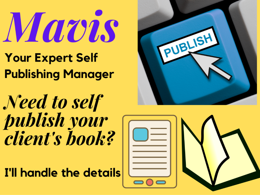 You will get an EXPERT KDP Kindle Self Publishing Project Manager For Your Client's Book